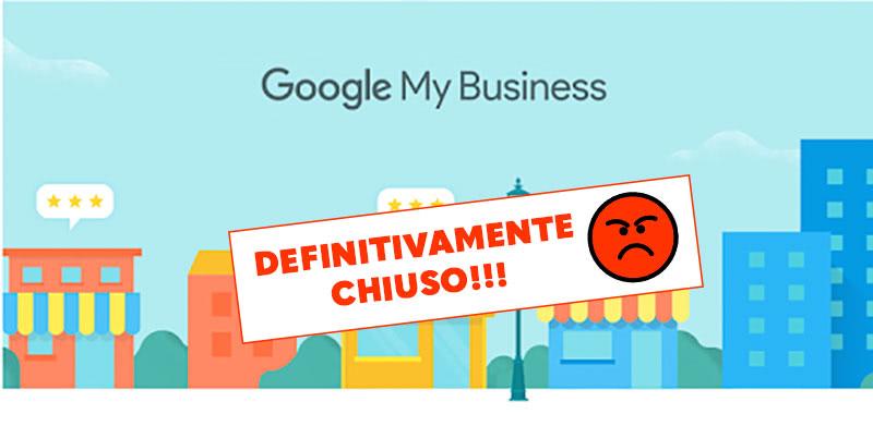 Definitivamente chiuso su Google :-(