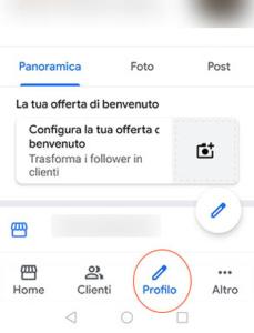 Google My Business da APP